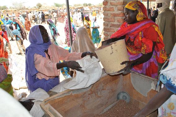 La distribution des vivres aux réfugiés, une responsabilité du Secadev depuis le début de l'urgence à l'est du Tchad.